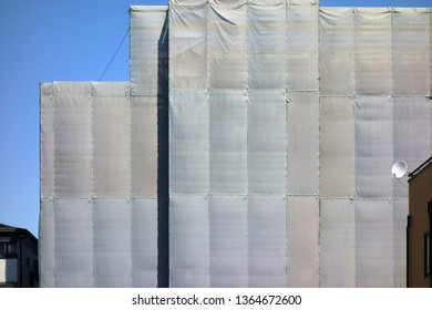 Protective net of construction of external wall
