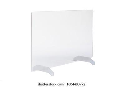 Protective plexiglass cough screen PMMA