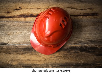 Protective Red Hard Hat