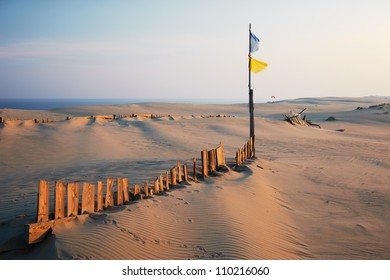 Protective structures on the Curonian Spit against the movement of sand dunes
