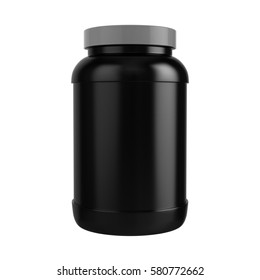 Protein Bottle with Grey Cap 3D illustration