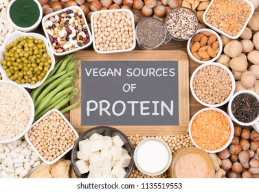 Protein in vegan diet. Vegan sources of protein
