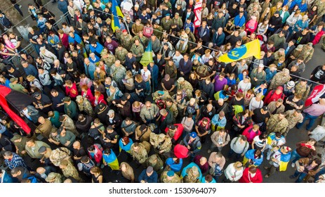 The protest against the surrender in the war against Russia, Kiev, Ukraine October 14, 2019