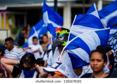 Protest in Managua Nicaragua on August 18th 2018. Reason: President Ortega is imprisoning hundreds of citizens in Nicaragua due a social-political crisis which started on April 18th, 2018.