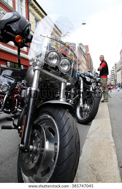 Protest Motorcycle Clubsmc Oslo Norway September Stock Photo (Edit