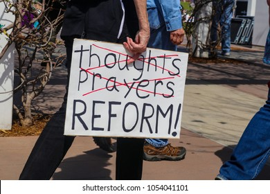 Protest sign held by participants at March for Our Lives rally