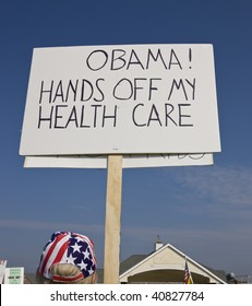 Protester to Obama health care reform.