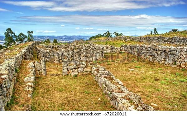 Proto-historic settlement in Sanfins de Ferreira, Pacos de Ferreira, north of Portugal