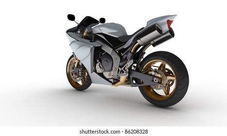 Prototype moto on white background