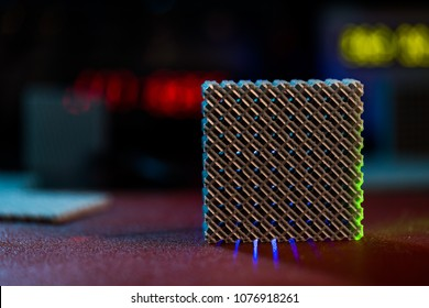 Prototype of nanostructured metamaterials in lab