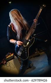 Protzen, Brandenburg / GERMANY June 24, 2016: Furnaze, Thrash Metal Band based in London, UK, giving a concert in Protzen (Germany) Protzen Open Air.