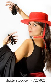 Proud face of a Spanish flamenco performer