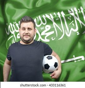Proud football fan of Saudi Arabia