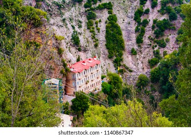 Proussos monastery near Karpenisi town in Evrytania - Greece. The Monastery of Proussos was named from the Icon of Panagia Prousiotissa from Prousa in Minor Asia.