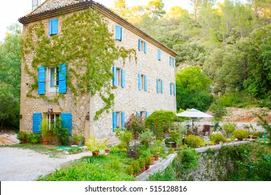 Provencal house of small typical town in Provence, France. Beautiful village, with french cute details