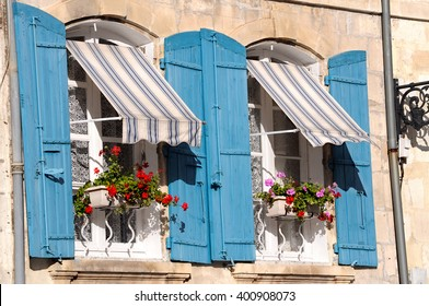 Provencal style of French window in South of France