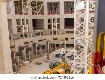 PROVENCE, FRANCE - JULY 31, 2017: ITER, International Fusion Energy Organization. Tokamak Complex under construction.