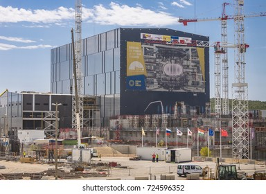 PROVENCE, FRANCE - JULY 31, 2017: ITER Assembly Building, International Fusion Energy Organization.