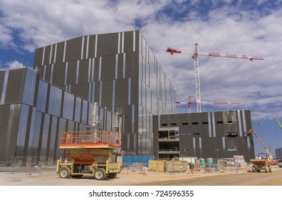 PROVENCE, FRANCE - JULY 31, 2017: Tokamak Assembly Hall under construction,  ITER, International Fusion Energy Organization.