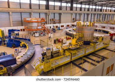 PROVENCE, FRANCE - JULY 31, 2017: ITER PF Coils Winding facility building, ITER, International Fusion Energy Organization.