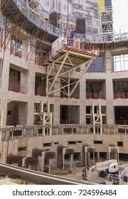 PROVENCE, FRANCE - JULY 31, 2017: ITER, International Fusion Energy Organization. Tokamak Complex under construction.
