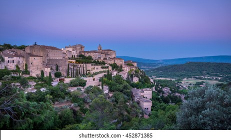 Provence, Gordes: After the sunset