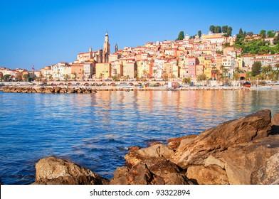 Provence village Menton ocean view