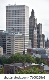 PROVIDENCE, RHODE ISLAND - AUG 12: Downtown Providence in Rhode Island, as seen on August 12, 2017.