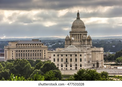 Providence, Rhode Island - August 21, 2016: The Rhode Island State House, the capitol of the U.S. state of Rhode Island.