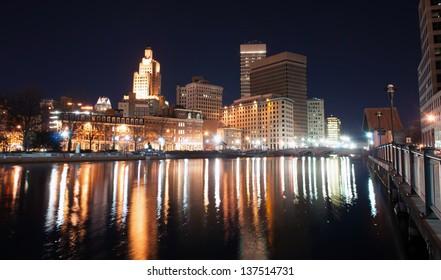 Providence, Rhode Island Skyline at night - December 2010