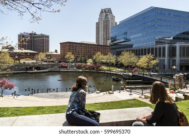 PROVIDENCE, RI - APRIL 30:. City skyline in New England region of the United States on April 30th, 2016 in Providence RI