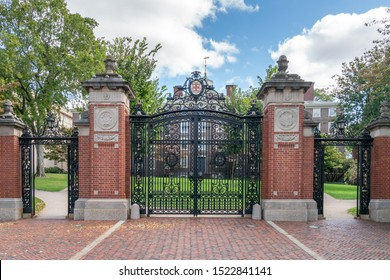 PROVIDENCE, RI/USA - SEPTEMBER 30, 2019: Van Wickle Gates on the campus of Brown University.