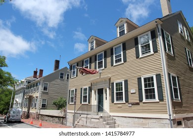 PROVIDENCE, USA - JUNE 8, 2013: Typical New England architecture in Providence, Rhode Island. Providence is the capital and most populous city (178,000 people) of Rhode Island.