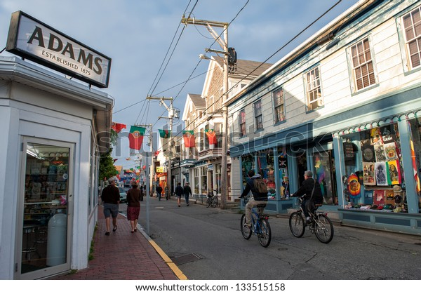 PROVINCETOWN, MA - JUNE 18: Tranquil scene at Commercial Street on June 18, 2010 in Provincetown. Provincetown was the site of the first landing of Mayflower and is now a major travel destination.