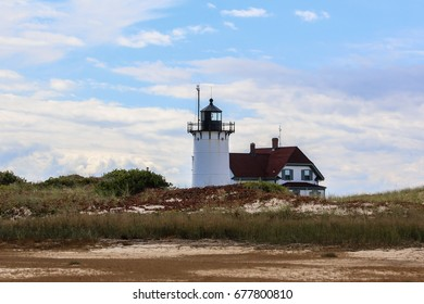 PROVINCETOWN-SEPTEMBER 15: Race Point lighthouse in Provincetown, Cape Cod , Massachussets, USA on September  15, 2014.