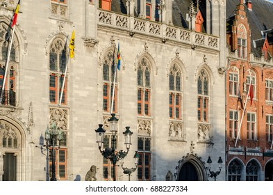 The Provinciaal Hof or Province Court is a neogothical building on the Grote Markt square in Bruges, Belgium