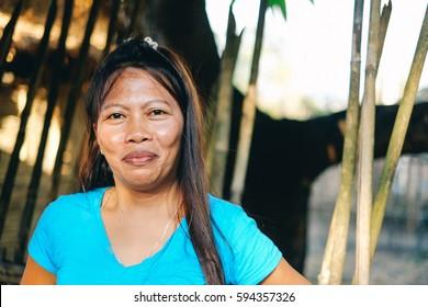Provincial Asian portrait of a woman smiling