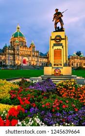 Provincial Parliament in Victoria at twilight time,British Columbia,Canada