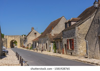 PROVINS, FRANCE - JUNE 4, 2015: Old houses in the medieval town of Provins. Provins - commune in Seine-et-Marne department, Ile-de-France region, north-central France.