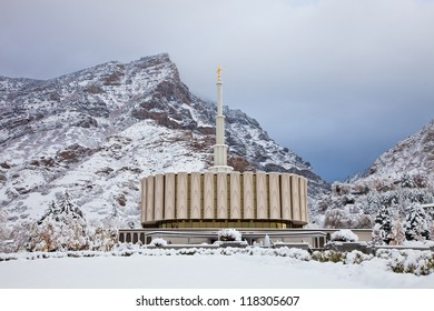 Provo Temple in the Winter