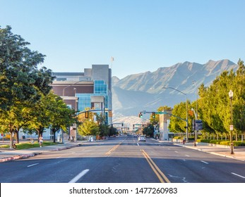 Provo, Utah / USA - August 11 2019  Downtown Provo on University ave