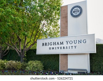 PROVO, UT/USA - OCTOBER 2, 2016: Entrance to campus of Brigham Young University.