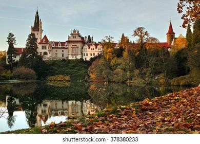 Pruhonice Park and Castle near Prague, Czech Republic