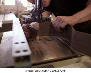 Pruning of rosewood blanks for sides of classical guitar. Hand made classical guitar. Guitar manufacturing.