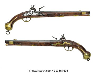 Prussian antique flintlock pistol