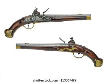 Prussian antique flintlock pistol