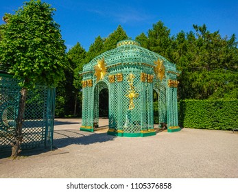 Prussian Palace of Sanssouci in Potsdam - POTSDAM / GERMANY - MAY 22, 2018
