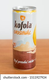 Pruszcz Gdanski, Poland - August 31, 2019: Can of Kofola original. Kofola is a carbonated soft drink.