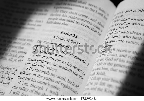 Psalm 23 King James Bible Stock Photo (Edit Now) 173293484