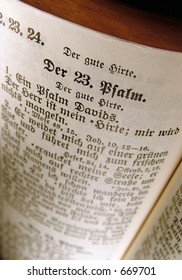 Psalm 23 from an old German Bible.